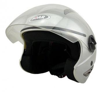 KED Soar Motorradhelm T-Star Black/Silver eingebaute Sonnenblende - Stylisch