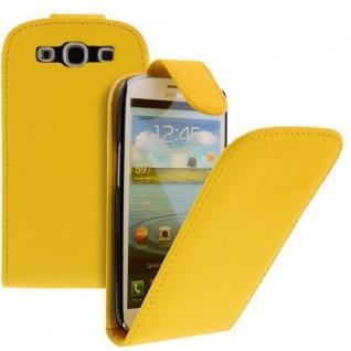 Für Samsung Galaxy S3/i9300 Handy Flip Case Tasche Hülle Gelb Tasche