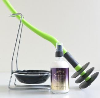 Mr Sanitär Limettengrün +Zubehör+POPOPOO Toilettenspray, Lavendel-Vanille