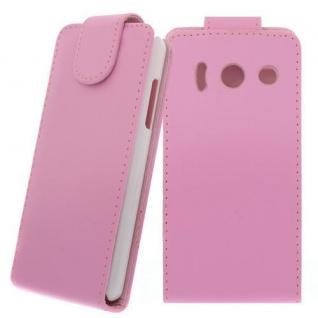 Für Huawei Ascend Y300 PINK - Kunstleder Tasche, Handytasche, Case, Hülle, Cover
