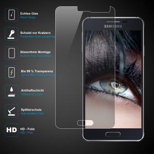Premium Schutzglas für Samsung Galaxy Alpha, Echtes Glas, 0, 3mm, 99% transparent