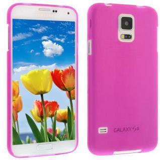 Für Samsung S5 i9600 PINK Slim TPU Case Cover Hülle Schale Schutzhülle Dünn! NEU
