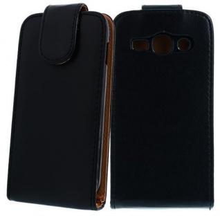 Für Samsung Galaxy ACE 3 /S7270 SCHWARZ Handytasche Case Hülle Etui Schutz Cover