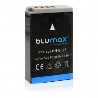 Akku accu battery für Nikon EN-EL 24; Nikon 1 J5 mit Li-Ion von Blumax neu