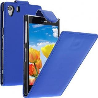 Für Sony Xperia Z1 -L39H BLAU Handytasche Case Cover Etui Hülle inkl.Schutzfolie