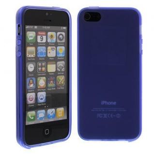 Silikon Case für Apple iPhone 5 SE, 5C, 5S Lila Etui Cover Bumper Tasche