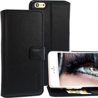 Für Apple iPhone 6 PLUS Handy ECHT LEDER Tasche Schwarz - Case, Etui von Exxcase