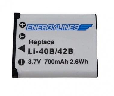 Akku accu für OLYMPUS LI-40B; LI-42B; Casio NP-80; NP-82; NP-82DBA ENERGYLINES