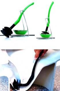 Mr.Sanitär spez. Toilettenbürste Klobürste Grün WC Garnitur Silikonfrei Biegsam