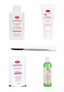Mosadal Kosmetische Hand- & Fußpflege Set 5tlg. Mit Lotion, Creme, Fußbad& Watte