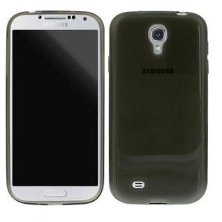 Silikon Case für Samsung Galaxy S4 Transparent Schwarz Smartphone Schutzhülle