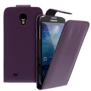 Für Samsung Galaxy S4/i9500 Handy Flip Case Tasche Hülle Lila Tasche