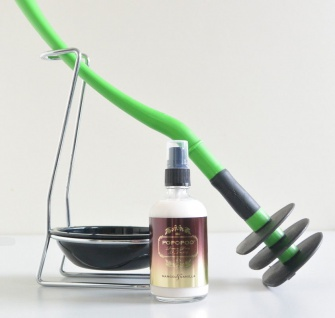 Mr Sanitär Grün +Zubehör+ POPOPOO Toilettenspray, Mango-Vanille Duft NEU