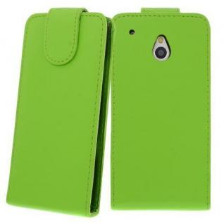 Für HTC One M4 MINI GRÜN - Kunstleder Tasche, Handytasche, Case, Hülle, Cover, N
