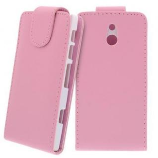 Kunstleder Tasche für Sony Xperia P PINK - Handy Flip Case Tasche Hülle Schutz N
