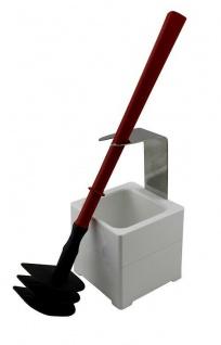 Mr. Sanitär Spezial 3 tlg. Toilettenbürste WC-Garnitur Rot + Wand- /Bodenhalter
