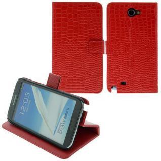 Für SamsungN7100/ Note2 TableTalk Case/Cover/Bumper/Hülle/Schale/Croco Rot LEDER