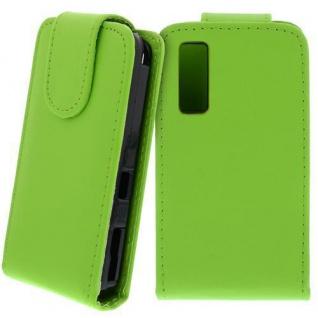 Für Samsung Star S5230 Handy Flip Case Tasche Hülle Schutz Grün