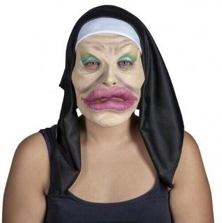 MKS Halloween Maske Kopf Über Scary Nonne Latex - Schön schaurig und gruselig