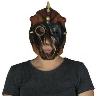 MKS Halloween Maske Kopf Über Steampunk Latex - Schön schaurig und gruselig