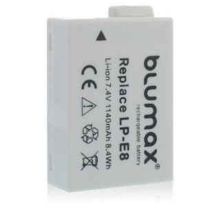 Akku accu battery für Canon LP-E8; EOS 550D; EOS 600D; EOS 650D EOS 700D blumax