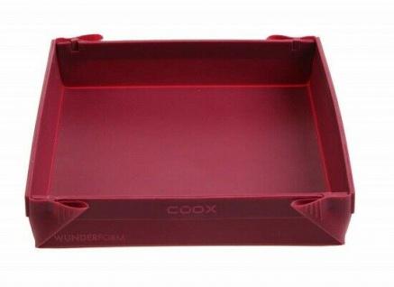 COOX Wunderform - 24x24x4, 5cm dunkelrot Silikon Backform Kuchenform halbes Blech