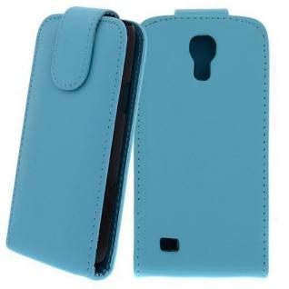 Kunstleder Tasche für Samsung Galaxy S4 Mini Türkis - Handytasche mit Schutzfoli