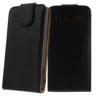 Für Huawei Ascend G510 SCHWARZ Handytasche Case Hülle Kunstleder Tasche Cover Et