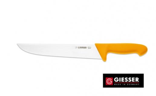 Giesser Messer Schlachtmesser 27cm Klinge gelb breite Form Profimesser 4005 27g