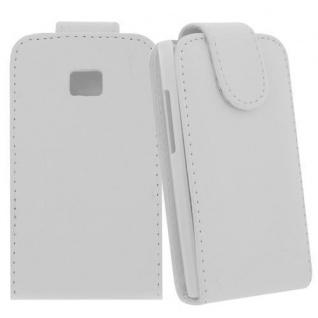 Für LG E400 / L3 WEIß - Kunstleder Tasche, Handytasche, Case, Hülle, Schale, Schutz,