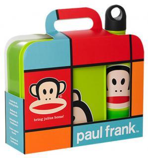 "Paul Frank Lunch-Set "" bring Julius home!"" Hellgrün 1x Lunch Box, 1x Trinkflasche"