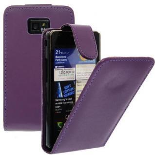 Für Samsung Galaxy S2/ i9100 Handy Flip Case Tasche Hülle Schutz Lila