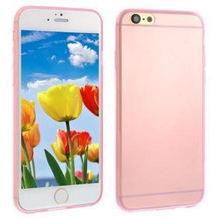 Silikon Case für Apple iPhone 6 - Transparent PINK -Cover Bumper Tasche Etui NEU