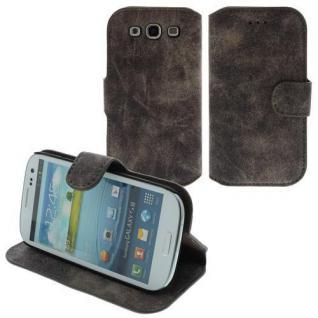 Für Samsung i9300 S3 Table Talk Case/Cover/Bumper/Hülle/Schale Kaffe Braun LEDER