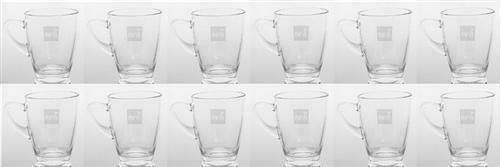 Mesh Teeglas mit Gravur 12 Stück, 280 ml Füllmenge, Glas, Geschirr, Set, Küche
