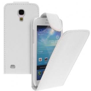 Für Samsung Galaxy S4 mini /i9190 Handy Flip Case Tasche Weiss mit NEU