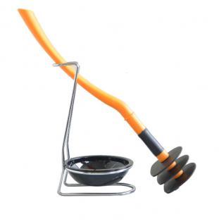 Mr Sanitär spez. Klo-/Toilettenbürste WC Garnitur Orange Silikonfrei Biegsam