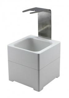 Mr. Sanitär Wandhalter Bodenhalter Ständer Behälter in Weiß mit Verbindungsstück