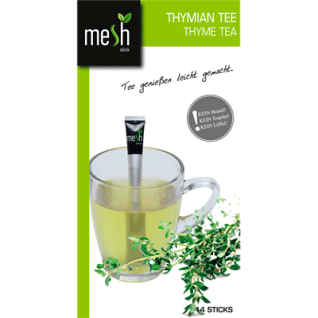 Mesh Stick Thymian Tee 14 Stück -Tropft nicht, mit Stick umrühren, genuss, tea