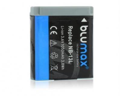 Akku accu battery für Canon NB-13L, PowerShot G7 X mit 1050mAh blumax neu