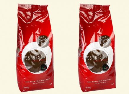 Mauri&Peppe Espresso 2x 1kg Kaffebohnen Kaffee Coffee Cappuccino Latte Macchiato