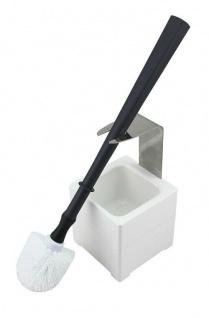 Mr. Sanitär Spezial 3 tlg. WC-Garnitur Grau, Wand- /Bodenhalter, 2x Borstenkopf