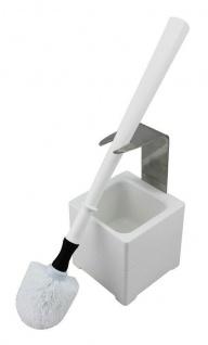 Mr. Sanitär Spezial 3 tlg. WC-Garnitur Weiß, Wand- /Bodenhalter, 2x Borstenkopf