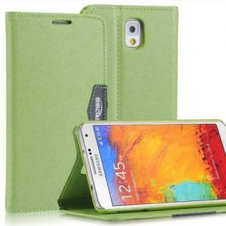 Bookstyle Case für Samsung Galaxy Note 3 Anthrazit Grün mit Magnetverschluß Etui