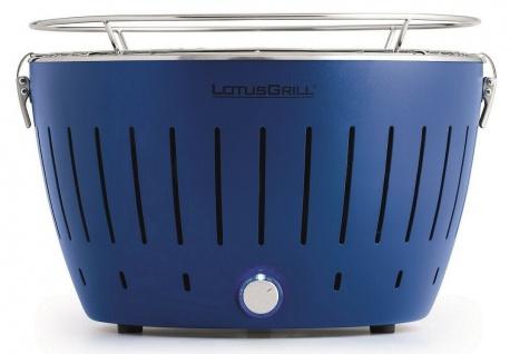 LotusGrill Tiefblau G340 Standard der raucharme Holzkohlegrill / Tischgrill