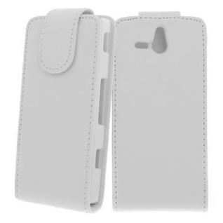 Für Sony Xperia U / ST25I WEIß Handytasche Case Cover Etui Hülle Kunstleder Tasc