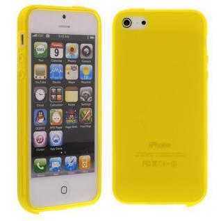 Silikon Case für Apple iPhone 5 SE, 5C, 5S Gelb Etui Cover Bumper Tasche