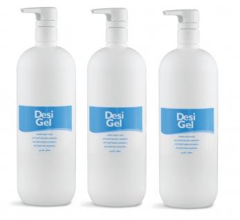 3x Sim DesiGel Desinfektionsmittel Spender HändeFlächendesinfektionsmittel1000ml