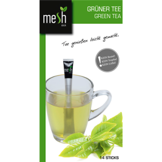 Mesh Stick Grüner Tee 14 Stück -Tropft nicht, mit Stick umrühren, genuss, tea