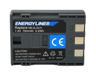 Akku accu battery für Canon BP-2L5; BP-2L5; BP-2LH BP-2LH; NB-2L von ENERGYLINES